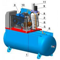 Винтовой компрессор с ременным приводом BK15A-10(15)-500